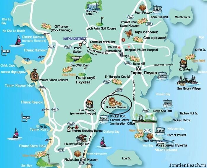 зоопарк пхукет на карте