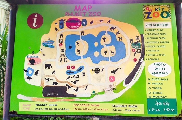 карта зоопарка на пхукете