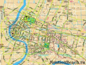 подробная карта бангкока