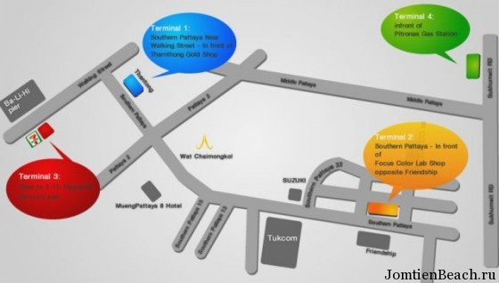 bus station pattaya