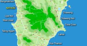 карта острова ко-самуи